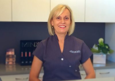 Staff member at front reception -beauty salon leederville Oxford Beauty Clinic